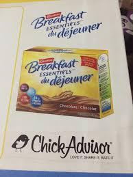 carnation breakfast essentials powder drink mix in chocolate