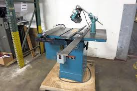 table saw power feeder lot 6 jet 10 tilting arbor cabinet table saw w grizzly power