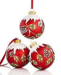 kurt adler set of 3 pine cone ornaments macys
