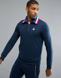 mychicpicks le coq sportif half zip sweatshirt find and