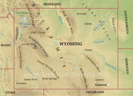 map of wyoming physical map of wyoming