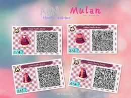 mulan dress ac nl qr codes pinterest animal crossing and qr