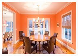 Wallpaper For Dining Room by Orange Paint Colors And Wallpaper For Modern Dining Room