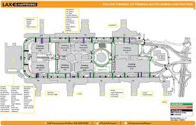Airport Terminal Floor Plans by Lax Map Find The Best Route To Get Between Terminals