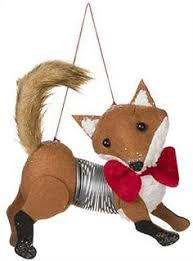 fox ornament fox decor ornaments cards and wrapping