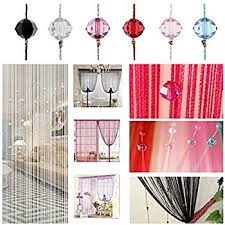 Beaded Fringe For Curtains Amazon Com Zebery Decorative Door String Curtain Beads Wall Panel