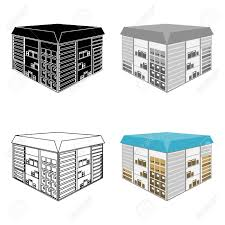 single delivery warehouse space logistics and delivery single icon in