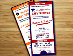 twins baby shower invitation baseball baby shower boy invite