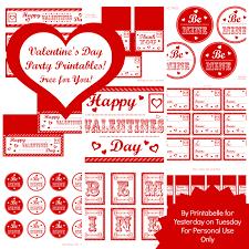 free mega set valentine u0027s day party printables yesterday on tuesday