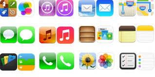home screen icon design ios 7 vs ios 6 comparing the home screen stock app icons