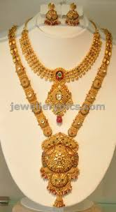 long necklace designs images Khazana gold haram long necklace designs latest jewellery designs jpg