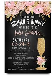 brunch bridal shower invitations chalkboard bridal shower invitation brunch and bubbly invite