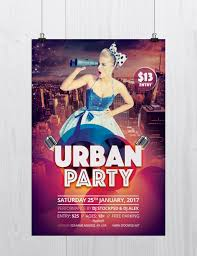 stockpsd net u2013 free psd flyers brochures and more urban party