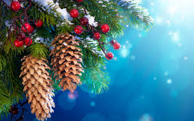new year christmas tree decoration snow twigs berries wallpaper