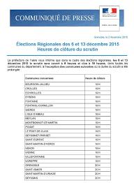 horaires bureaux de vote régionales 2015 les horaires d ouverture des bureaux de vote en isère