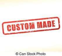 vector clipart of custom made rubber st grunge design with