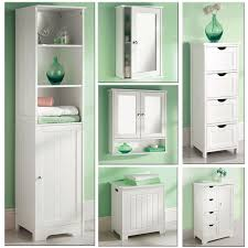 Bathroom Storage Shelf Bathroom Cabinets White Painted Wooden Bathroom Towel Cabinet