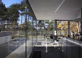amazing glass walls design ideas with tree painting inspiration