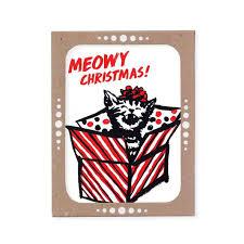 meowy christmas cards cheminee website