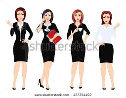 set business clothes women woman office stock vector 451566340