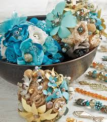 fabric flower beaded balls joann