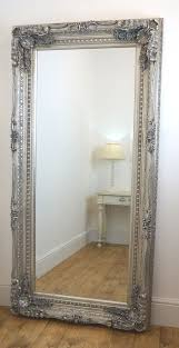 mirror home decor chelsea silver ornate leaner antique floor mirror 36 x 72 x