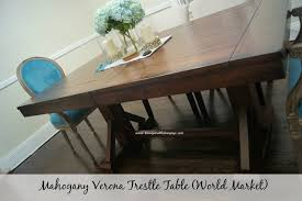 World Market Dining Room Table by My Farmhouse Glam Dining Room Beauty And The Bump