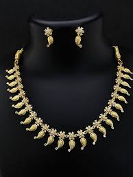 antique necklace images Gold plated antique necklace womanly jpg