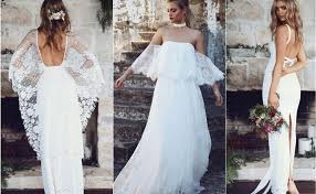 bohemian wedding dresses grace lace unique bohemian lace wedding dresses hi miss puff