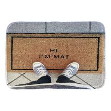 funny doormat funny doormats with phtoto of hi i u0027m mat decor doormat front door