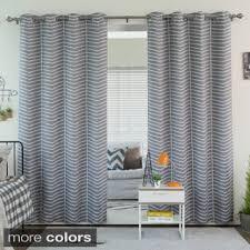 Grommet Chevron Curtains Aurora Home Arrow Room Darkening Grommet Curtain Panel Pair Free