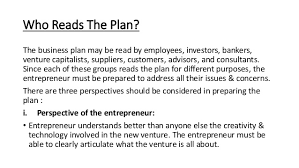 read the plan the business plan creating starting the venture