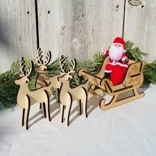 Santa s Sleigh Set 3 reindeer