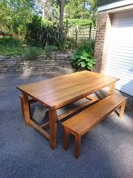 Laura Ashley Outdoor Furniture by Laura Ashley Refectory Table In Oak With Two Benches In Poole