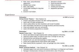 Sample Resume For Dishwasher by Dishwasher Job Description Resume Reentrycorps