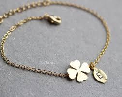 lucky leaf bracelet images Clover bracelet etsy jpg