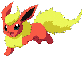 flareon pokemon transparent png stickpng