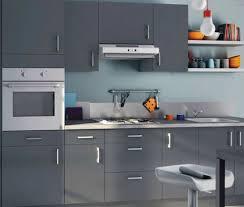 deco mur cuisine moderne faience cuisine grise pour idees de deco l gant couleur mur
