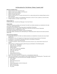 Cover Letter For Bus Driver Kitchen Staff Job Description For Resume Resume For Your Job
