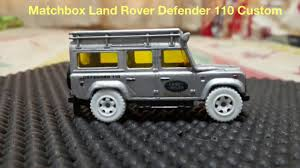 matchbox land rover defender 110 matchbox land rover defender 110 custom silver youtube