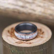 black zirconium wedding bands black zirconium rings staghead designs