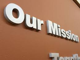 brushed aluminum letters project sign architectural