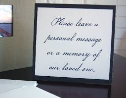 memorial guest book guest book table sign custom printed by blue sky papers