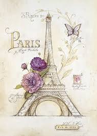 tower sketch paris poster art print