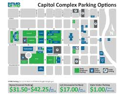 Austin Downtown Map by Dtmb Downtown Lansing Visitor Parking