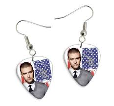 justin timberlake earrings printed guitar picks shop products band products earrings