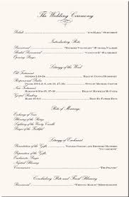 order of ceremony for wedding program best 25 wedding program exles ideas on wedding