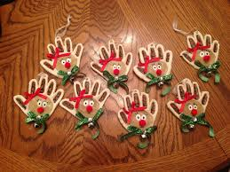 christmas ornaments handprint christmas ornaments homemade