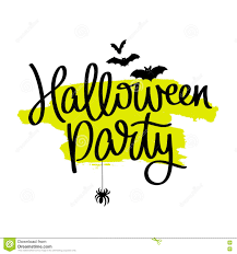 halloween party the trend calligraphy stock vector image 73950997