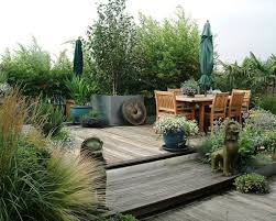 terrace garden with wooden trellis wonderful roof terrace garden